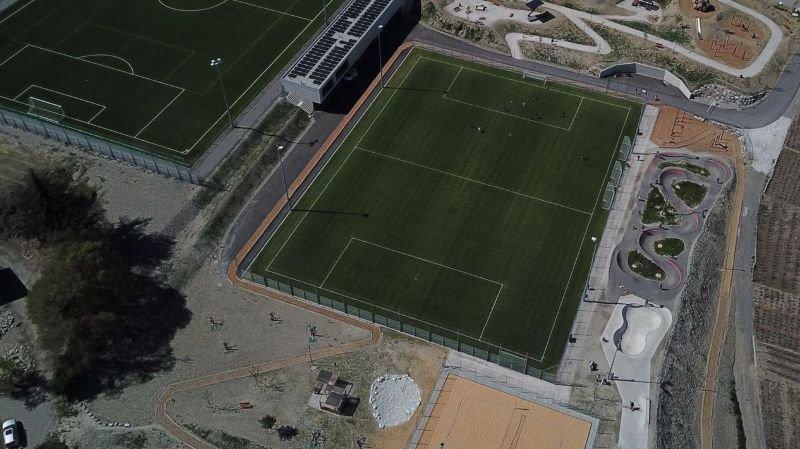 Une foule d'activités sont désormais possibles sur la nouvelle zone sportive de l'Oure à Savièse.