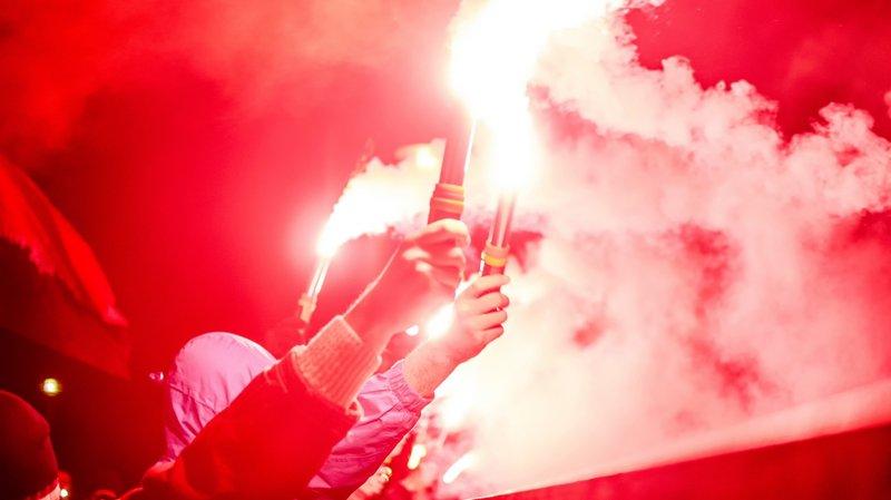 Pétards, torches: la police et la justice valaisannes font le ménage à Tourbillon. (image d'illustration)