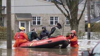 Inondations au Canada: le Premier ministre Justin Trudeau sur le terrain