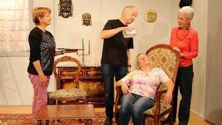 Les acteurs de la troupe Le Moulin sont parés pour la générale à Sarreyer