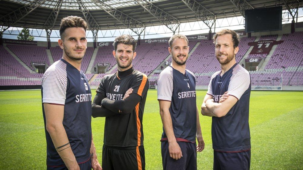 Daniel Follonier, Joao Castanheira, Steve Rouiller et Anthony Sauthier: les quatre Valaisans font partie du groupe promu en Super League.