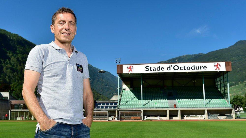 Francesco Bortone se sent comme chez lui au stade d'Octodure où il fonctionne comme président depuis dix ans.