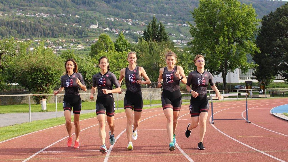 Mariana Solorzano, Perrine Truong, Valérie Werlen, Joanna Ryter et Laure Langlacé figurent parmi les leaders du Triathlon Club Valais.