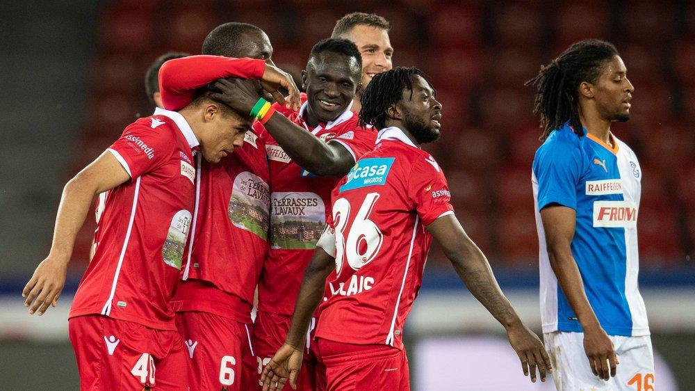 Le soulagement pouvait se lire sur le visages des joueurs sédunois après chacun des trois réussites de Itaitinga.