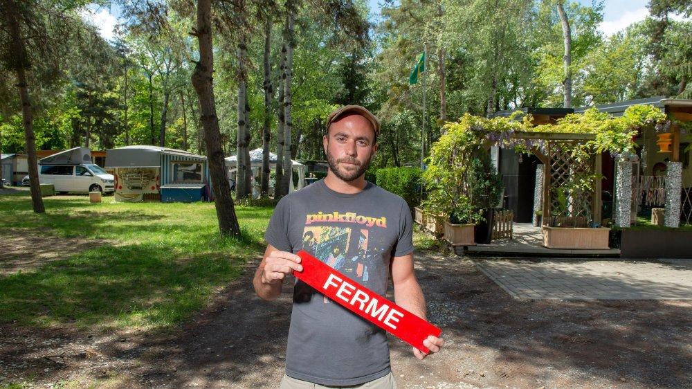 Dans dix ans, le camping Sedunum devra fermer ses portes à cause de la correction du Rhône. Jonathan Mazza, le gérant, espère trouver une solution de remplacement.