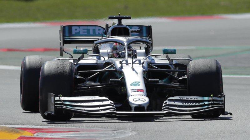 Formule 1: Lewis Hamilton remporte le Grand Prix d'Espagne devant son coéquipier Valtteri Bottas