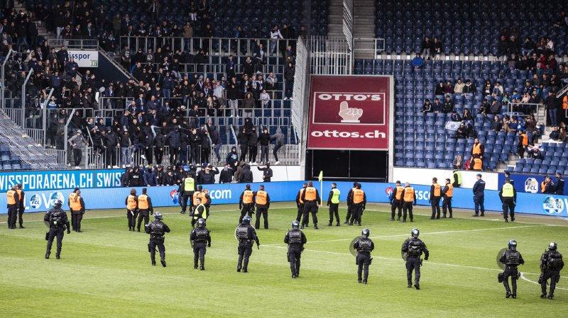 Football: forfait, amende et huis clos pour Grasshopper, puni par ses hooligans