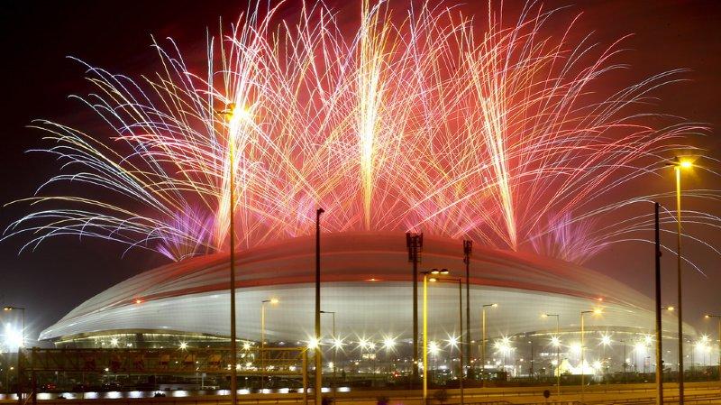Football: le premier stade construit pour le Mondial 2022 a été inauguré au Qatar