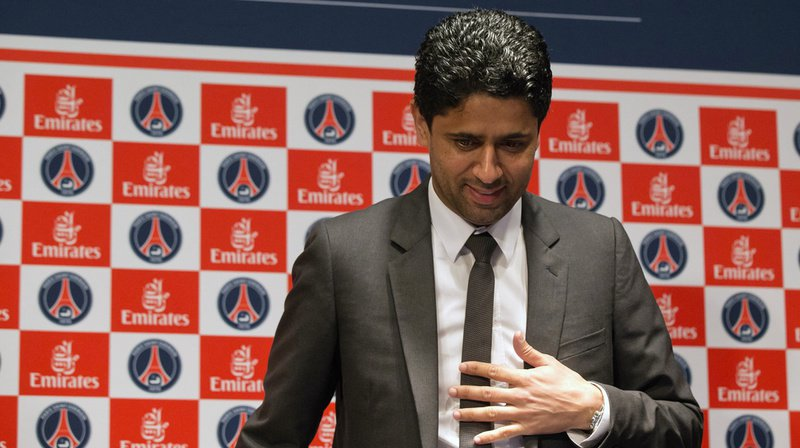 """Nasser Al-Khelaïfi, président du Paris Saint-Germain, a été mis en examen jeudi dernier pour """"corruption active"""". (Archives)"""