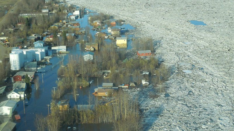 Alaska rongé par le  changement climatique