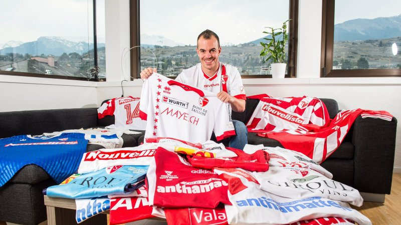 FC Sion: Christophe Monney possède l'une des plus belles collections de maillots