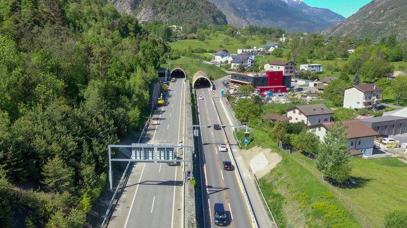 Des travaux dans le tunnel de Gamsen vont provoquer la fermeture de l'A9.