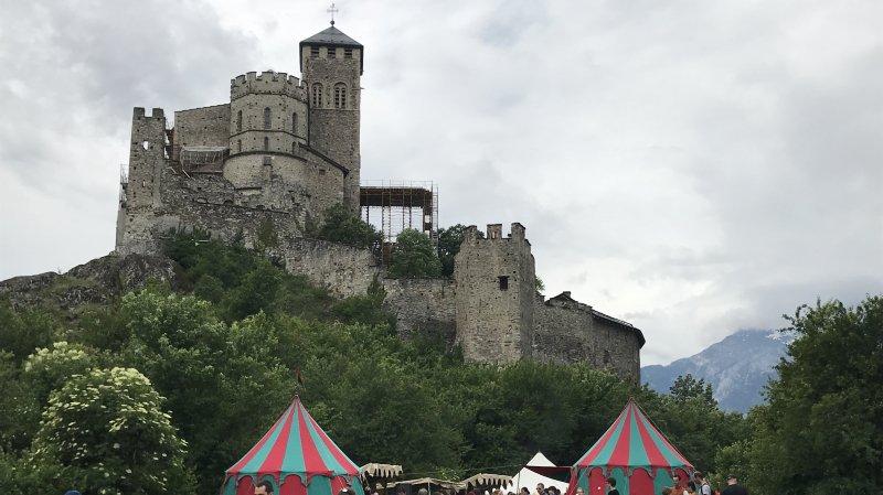 La grande foule est attendue du côté des châteaux de Sion dimanche, comme ici lors de l'édition 2018.