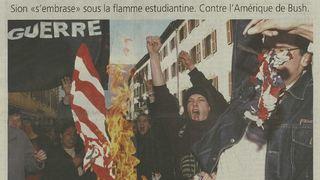 Manifestations: guerre, transport, réforme, ces événements qui ont fait descendre les étudiants valaisans dans la rue avant le climat