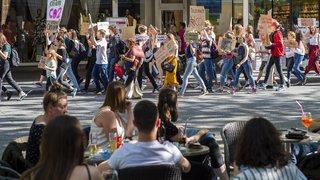 Sion: 400 Valaisans en grève à la quatrième manifestation pour le climat