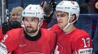 Treize points pour les deux Valaisans de l'équipe suisse Nico Hischier et Vincent Praplan