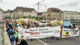 Bâle: environ 2000 personnes ont manifesté contre les géants de l'agrochimie