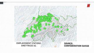 Téléphonie mobile: la carte des installations 2G, 3G, 4G et 5G en Suisse et en Valais