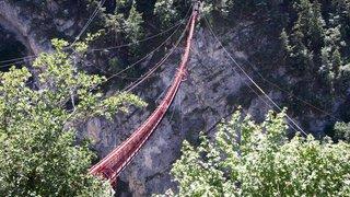 Niouc: une via ferrata est en cours d'élaboration dans le secteur du pont suspendu