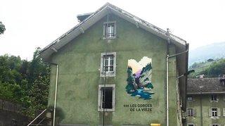 Monthey: une fresque de trois mètres à l'entrée des Gorges de la Vièze
