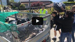 Valais: des étudiants récoltent 500kilos de déchets sauvages à Conthey