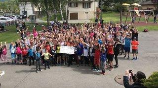 Massongex: les écoliers récoltent 8000 francs pour les malades