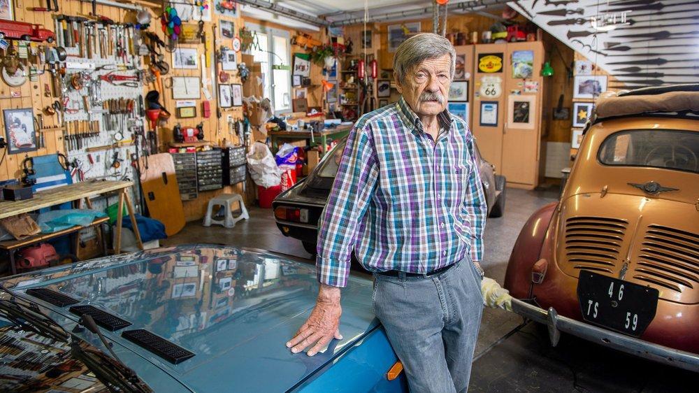 Jean-Claude Rudaz adore désormais retaper de vieilles voitures dans son atelier, à Bramois. Une vie casanière, enfin.