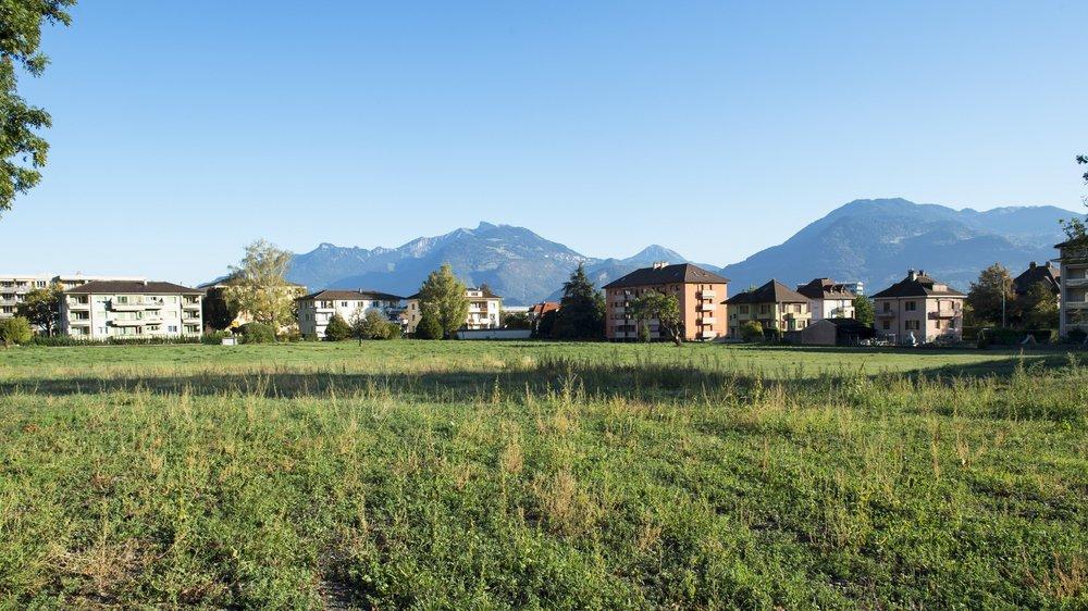 Sur le Pré à Djéva, à Monthey, quatre bâtiments devraient sortir de terre pour un total de 200 à 300 logements.