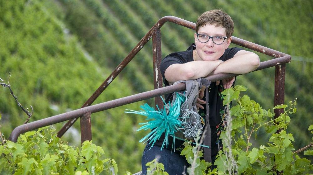 Sandrine Caloz envisage l'avenir de la viticulture valaisanne avec sérénité et lucidité.