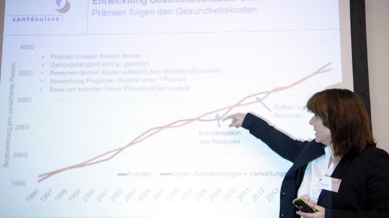 Verena Nold, directrice de Santésuisse, demande des mesures urgentes pour réguler la hausse continue des coûts (archives).