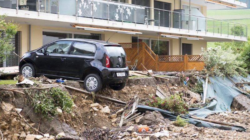 Neuchâtel: les inondations dans le Val-de-Ruz ont fait un mort et des millions de francs de dégâts