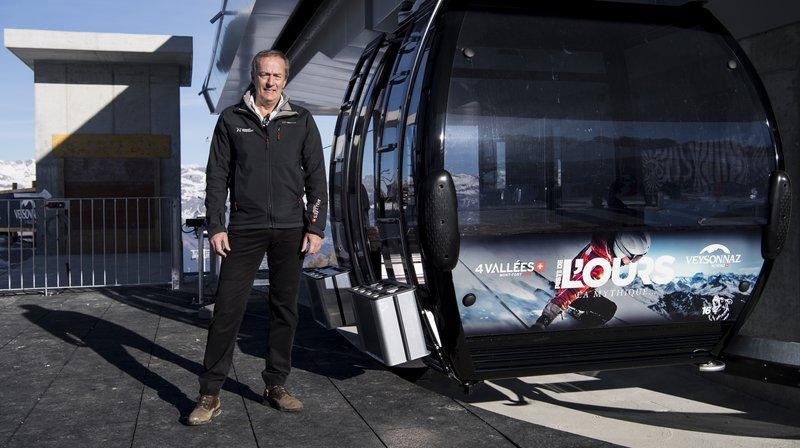 En décembre 2016, Jean-Marie Fournier posait pour l'inauguration de la nouvelle télécabine de la piste de l'Ours.