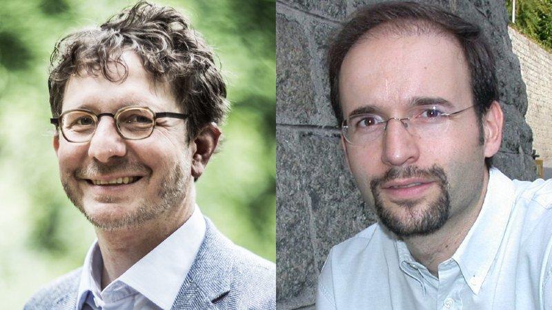 Le chef du projet agglo, Pierrick Maire (à gauche) et le directeur de Chablais Région, Norbert Zufferey.