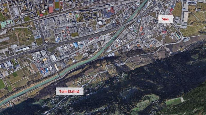 Le tronçon entre Sion et Turin (Salins) sera fermé les nuits du 24 au 28 juin 2019.