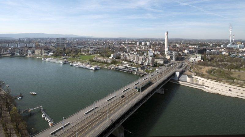 La victime a disparu au niveau du Pont des Trois-Roses, à Bâle.