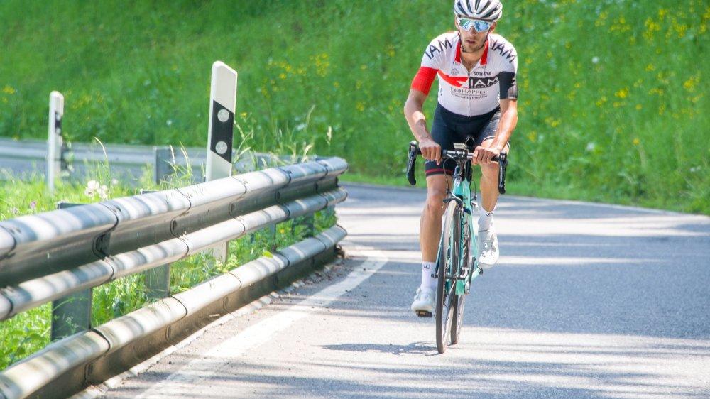 Antoine Debons voudra garder des forces pour l'étape de Champex, à domicile, sur ses routes d'entraînement.