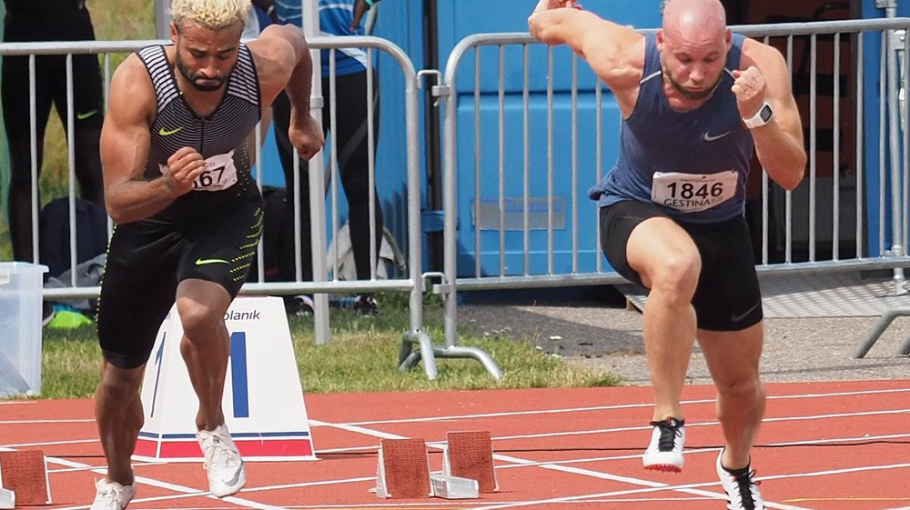 Kevin Di Nocera (à droite) a amélioré son record personnel de 8 centièmes.