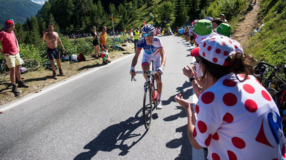 Sébastien Reichenbach lors de l'ascension sur Finhaut en 2016. La station de la Vallée du Trient espère bien retrouver rapidement le Tour de France.