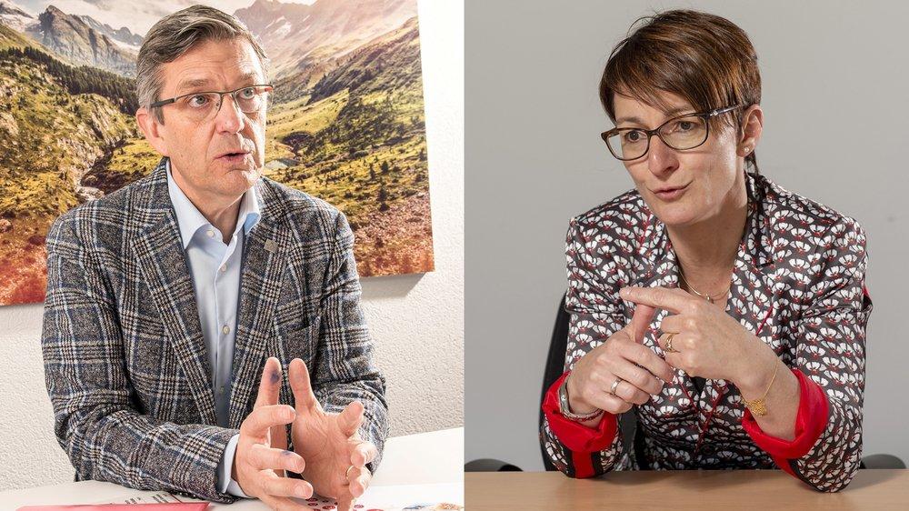 Damian Constantin et Karin Perraudin inaugurent notre rubrique «L'interview Haut/Bas»