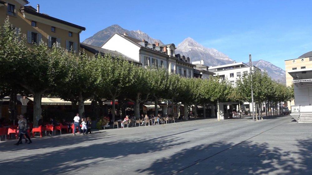 La place centrale de Martigny a été en partie financée par une succession exceptionnelle.