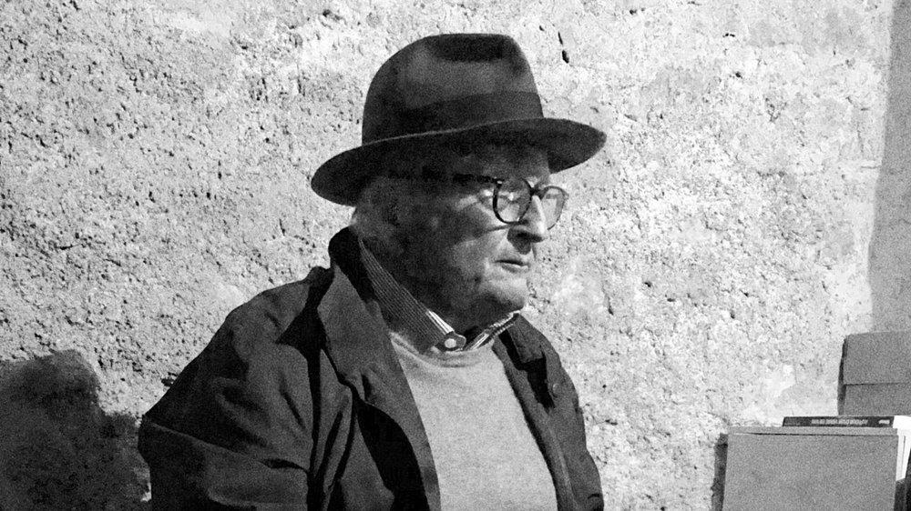 Pierre Keller immortalisé en septembre 2018 dans son carnotzet de Saint-Saphorin (VD).