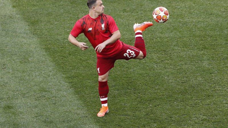 L'international suisse, Xerdan Shaqiri n'a toujours pas pu reprendre les entraînements avec le FC Liverpool.