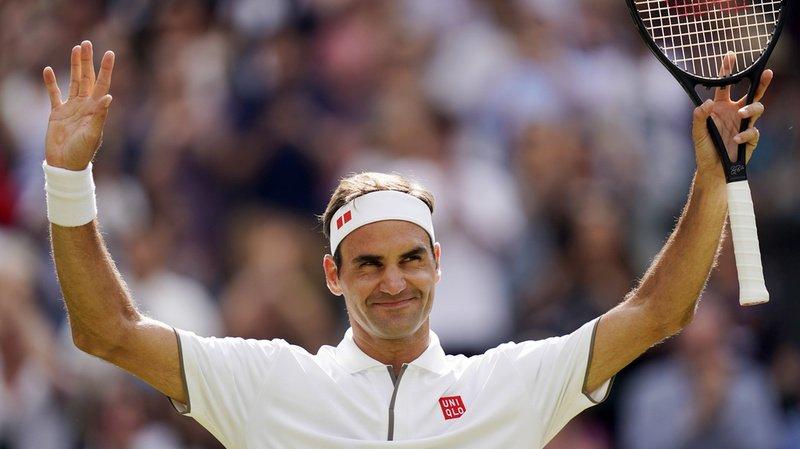 Roger Federer a remporté mardi son match contre Lloyd Harris à Wimbledon après avoir perdu le premier set.