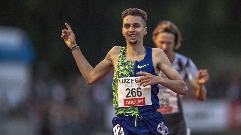 Julien Wanders a terminé à la troisième place du Meeting de Lucerne. Une belle performance.