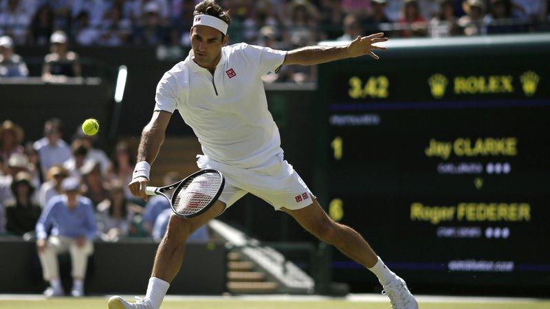 Tennis: Roger Federer a fait quelques essais