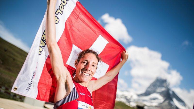 La Chablaisienne Maude Mathys au sommet et dans l'histoire de la course à pied de montagne