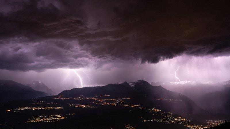 Valais: les orages de lundi soir en quelques chiffres