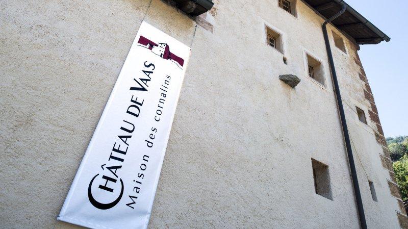 Le château de Vaas est l'un des trois bénéficiaires valaisans des dons d'UBS.
