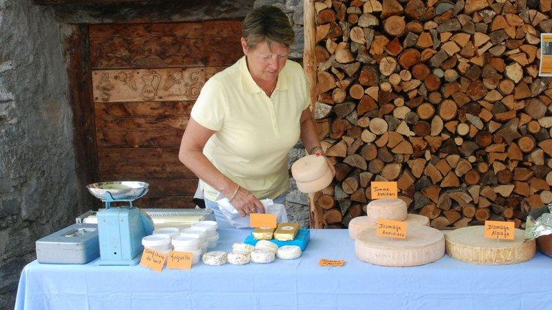 Le terroir local est à l'honneur à Grimentz durant les marchés de l'été.