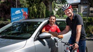 Prévention routière: Sébastien Carron et Steve Morabito inversent les rôles pour plus de respect